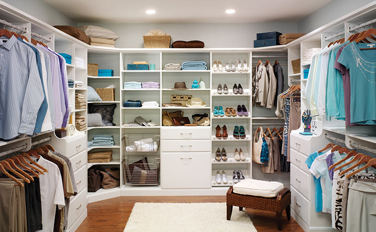 The professionals here at econize will provide a custom home organizational designs that make beautiful closets in your fairfax va home