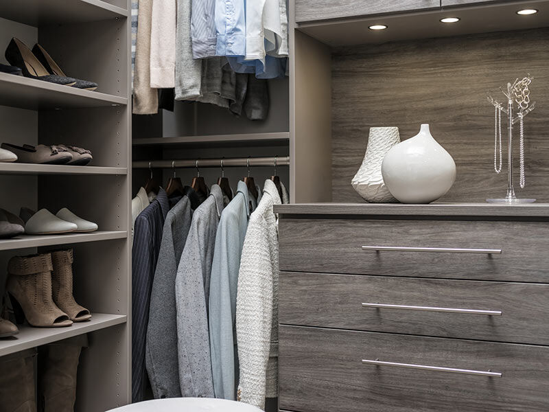 image of vertical pull out storage in closet