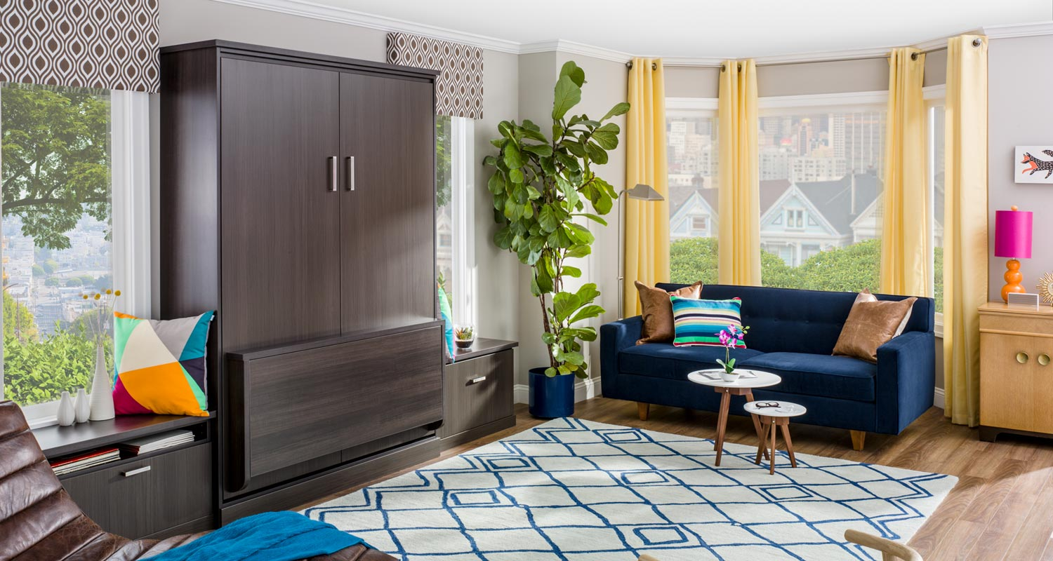 picture of a modern murphy bed